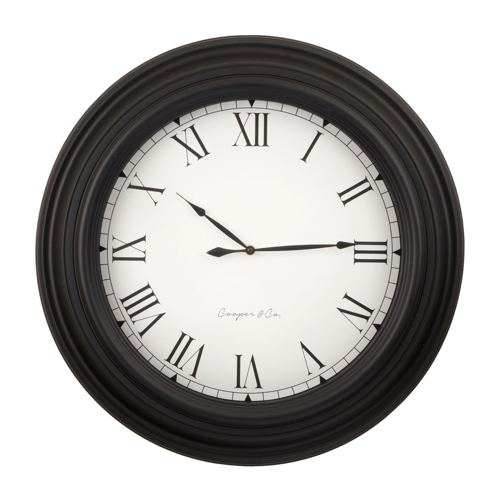 Cooper & Co. 60cm Black Jumbo Wall Clock