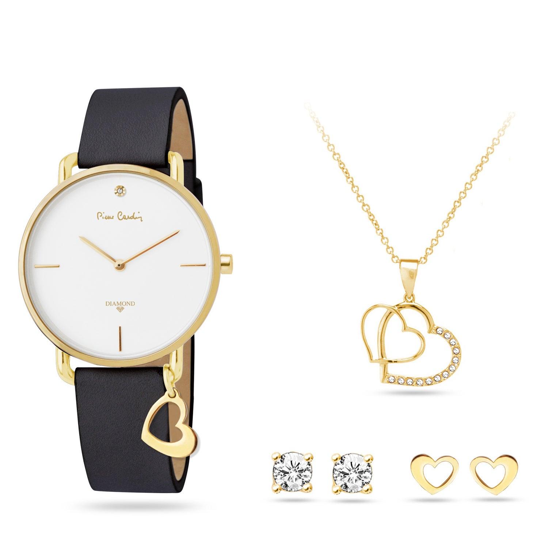 Pierre Cardin Gift Set Watch & Necklace & Earrings PCDX8464L23 Women Gold