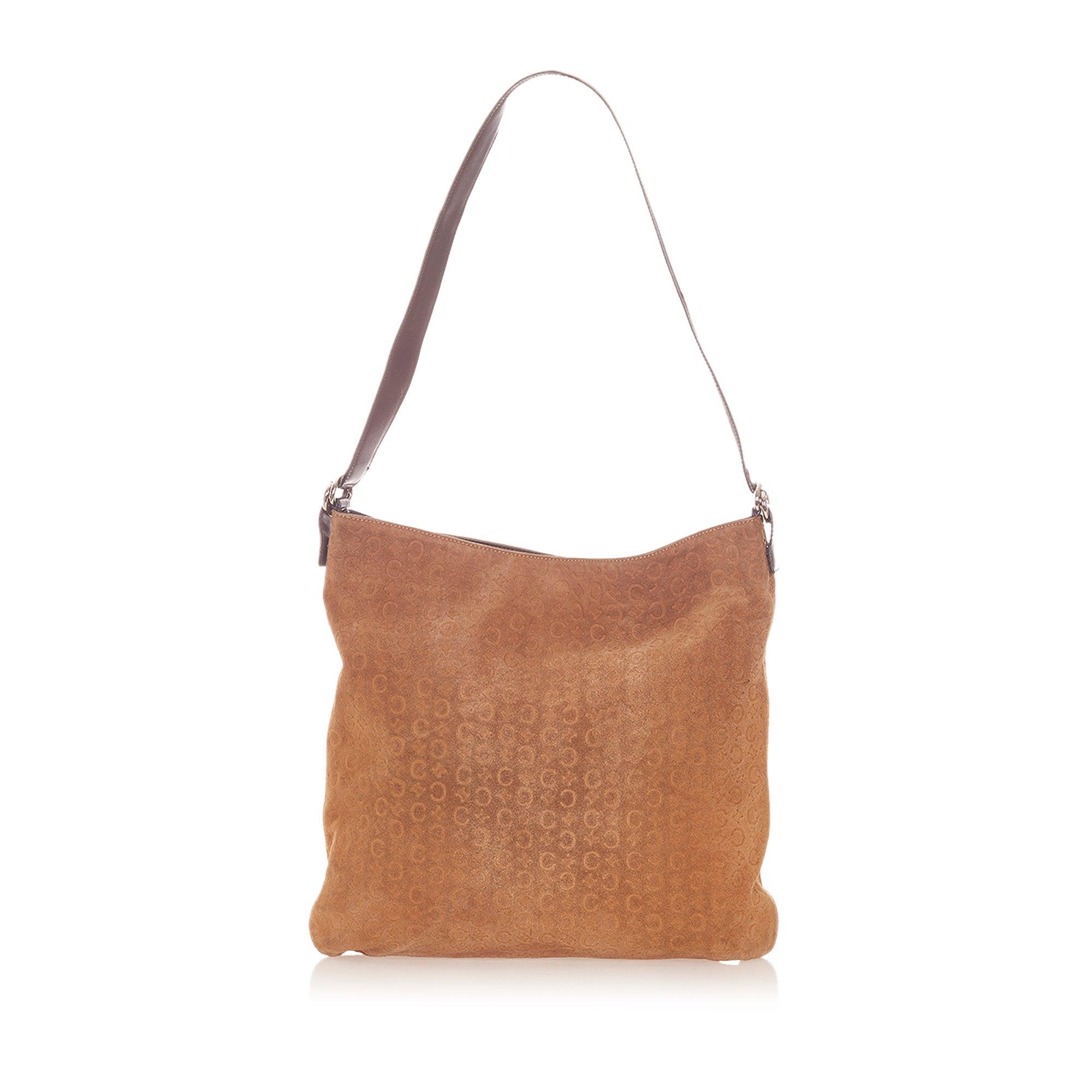 Celine Macadam Suede Shoulder Bag