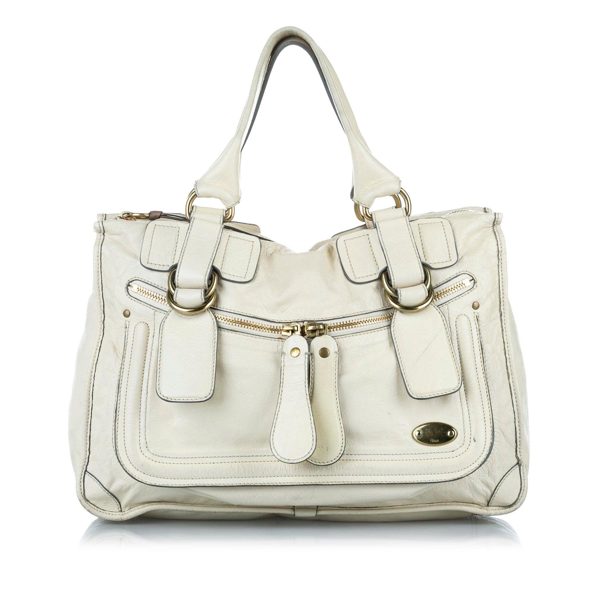 Chloe Leather Tote Bag