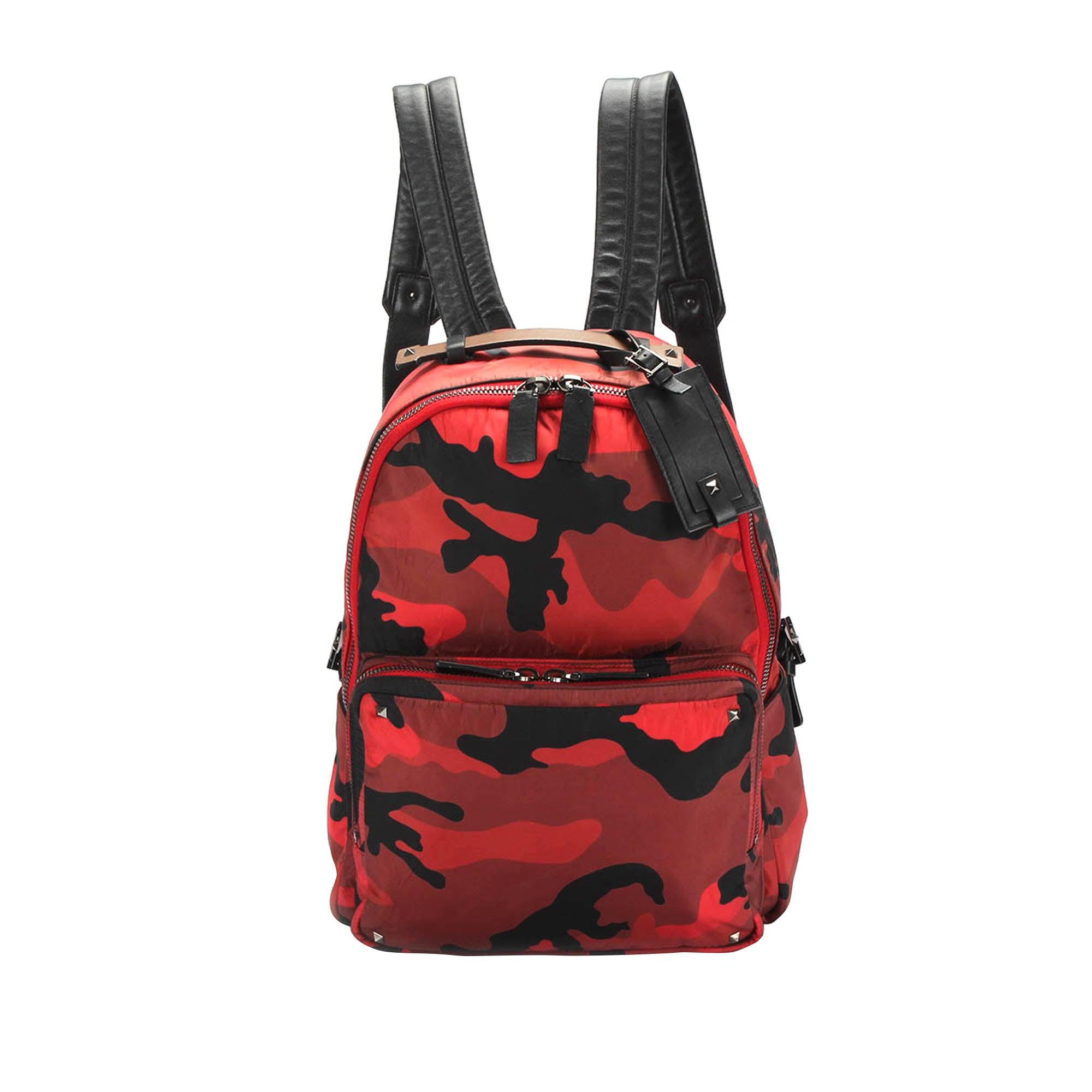 Valentino Camouflage Nylon Backpack