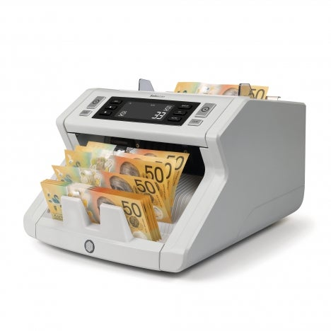 Safescan 2210 - Banknote Counter for Sorted Australian banknotes with 2-Point Counterfeit Detection