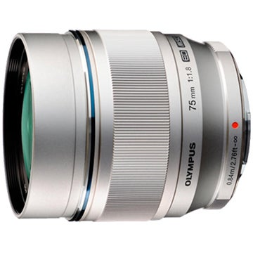 Olympus M.Zuiko Digital ED 75mm F1.8 Lens Silver - BRAND NEW