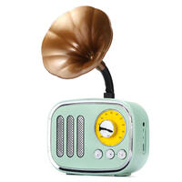 5W Phonograph bluetooth Speaker Support AUX play TF Card Play FM Radio GREEN COLOR