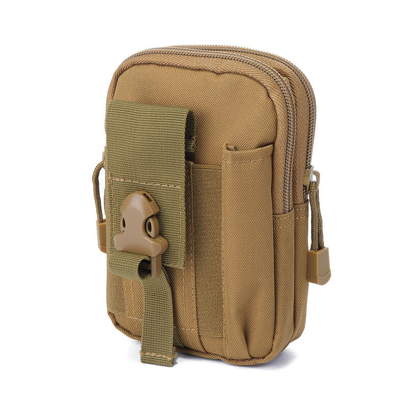 6.7 Inch Outdoor EDC Tactical Molle Waist Bag Pack Men Cell Phone Case Wallet Pouch Holder For iphone 8 Xiaomi Camping Hiking EARTHY COLOR