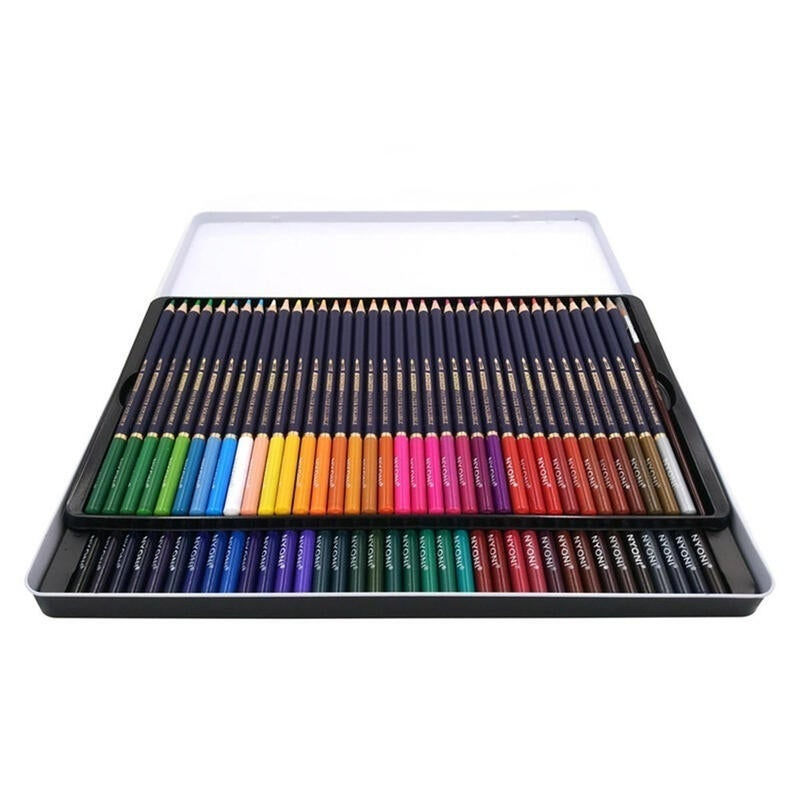 Color Pencils Dry Coloring Painting Pencil Water Soluble Color Pens Brush 72COLORS TYPE