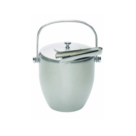 Barcraft Stainless Steel Ice Bucket with Lid & Tongs- gift boxed