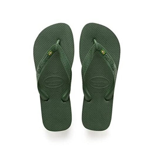 Havaianas Brasil Amazonia Green Mens Flip Flops Size UK 10/11 (BR 43/44)