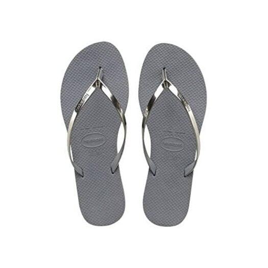Havaianas You Metallic, Women's Flip Flops, Steel Grey, 5 UK (37/38 BR) (39/40 EU)