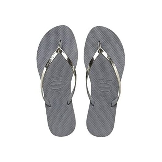 Havaianas You Metallic, Women's Flip Flops, Steel Grey, 6/7 UK (39/40 BR) (41/42 EU)