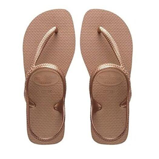 Kids Havaianas Flip Flops Flash Urban Rose Gold - Children's Flip Flops Size: 6.5 UK (41/42 EU) (39/40 BR)