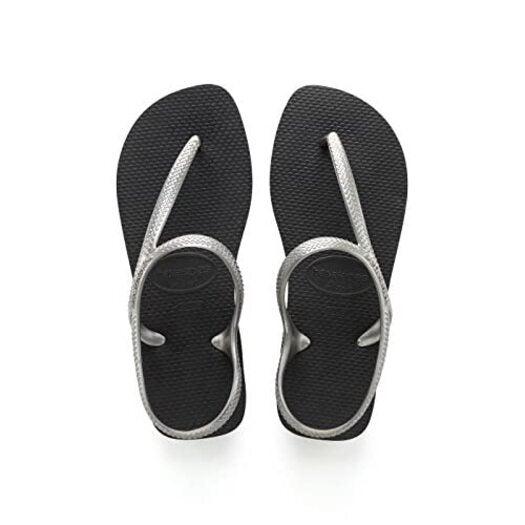 Kids Havaianas Flip Flops Flash Urban - Size 6.5 Black/Silver - Children's Flip Flops