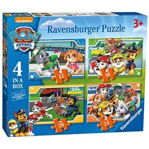 Ravensburger Paw Patrol 4 in a Box (12, 16, 20, 24pc) Jigsaw Puzzles