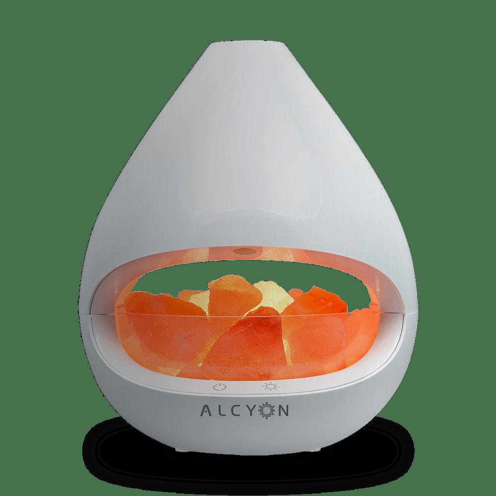 Genuine Himalayan Salt Lamp Diffuser Alcyon KIYOSHI Aromatherapy White