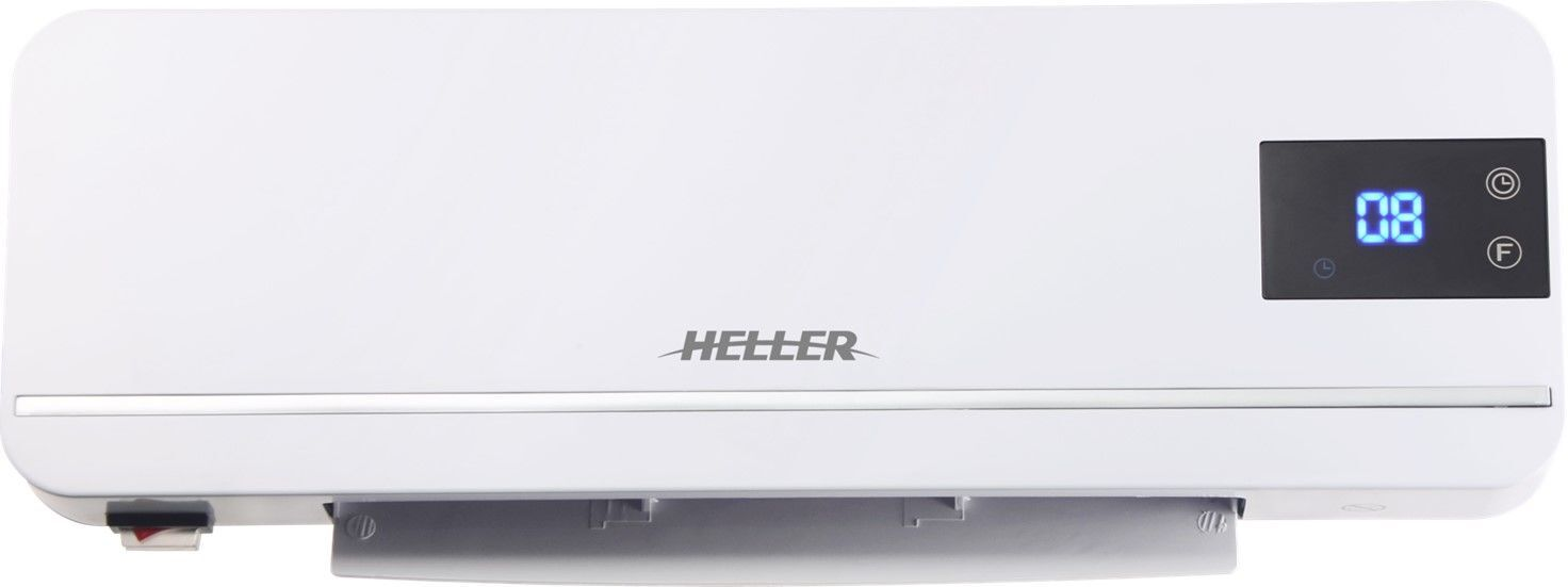 Heller 2000W Ceramic Wall Heater With LED Display, White - HWH2000