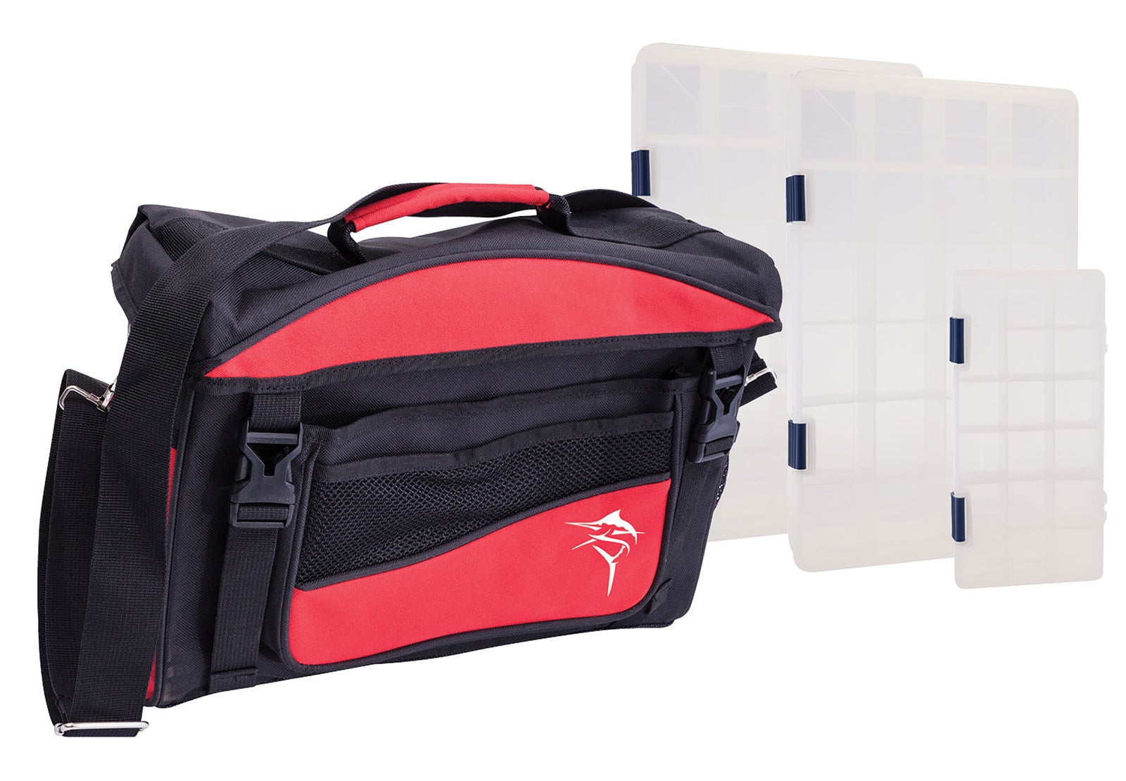 Jarvis Walker 87027 Lure Bag 3 Box - Black & Red Red
