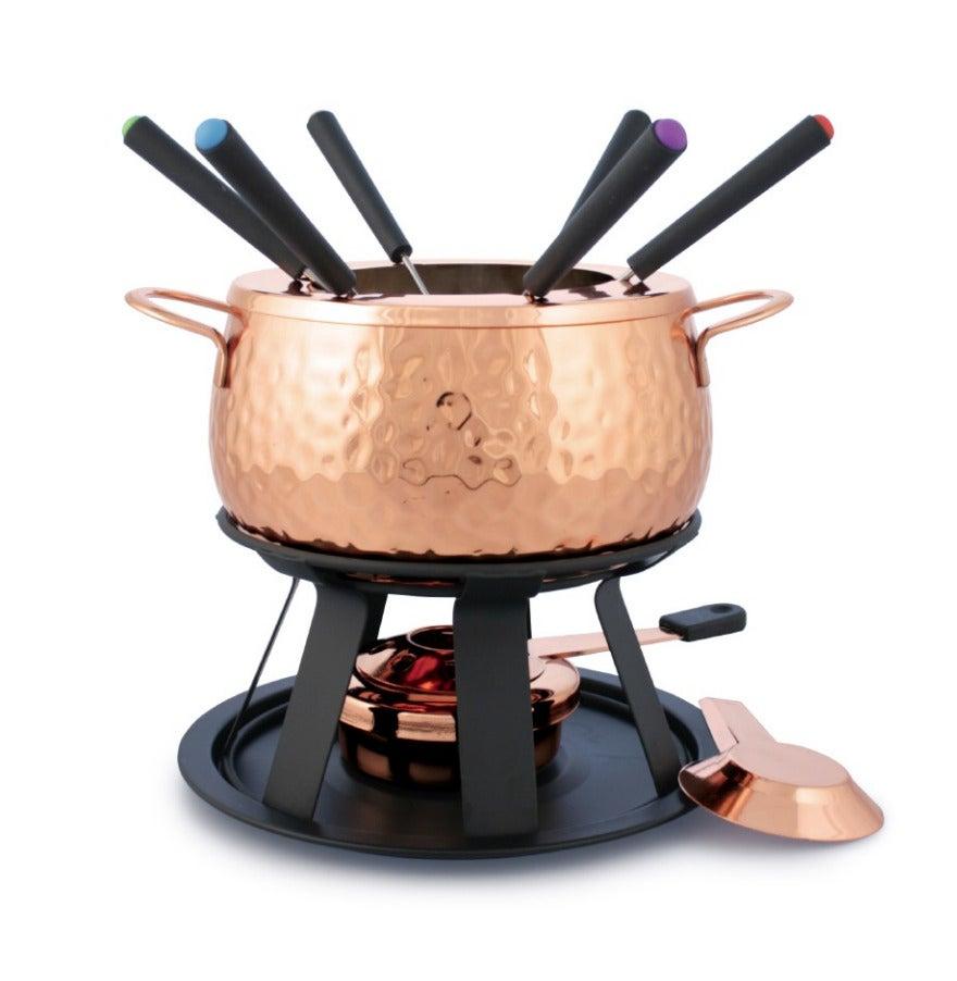 Swissmar 75840 11 Piece Fondue Set COPPER Copper