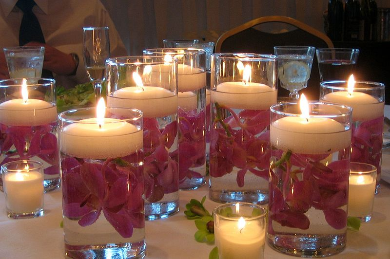 10 Pack of 4cm Ivory Wax Floating Candles - wedding party home event decoration