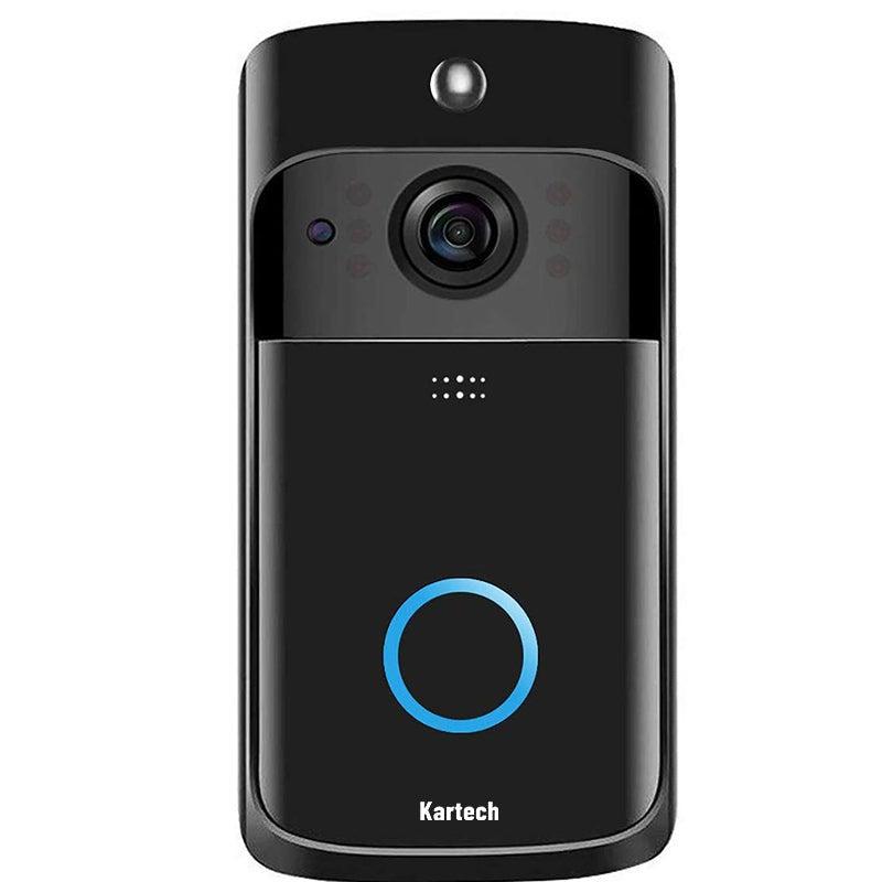 Kartech Wireless Door Bell Camera Smart Intercom Wifi Video Monitor Waterproof