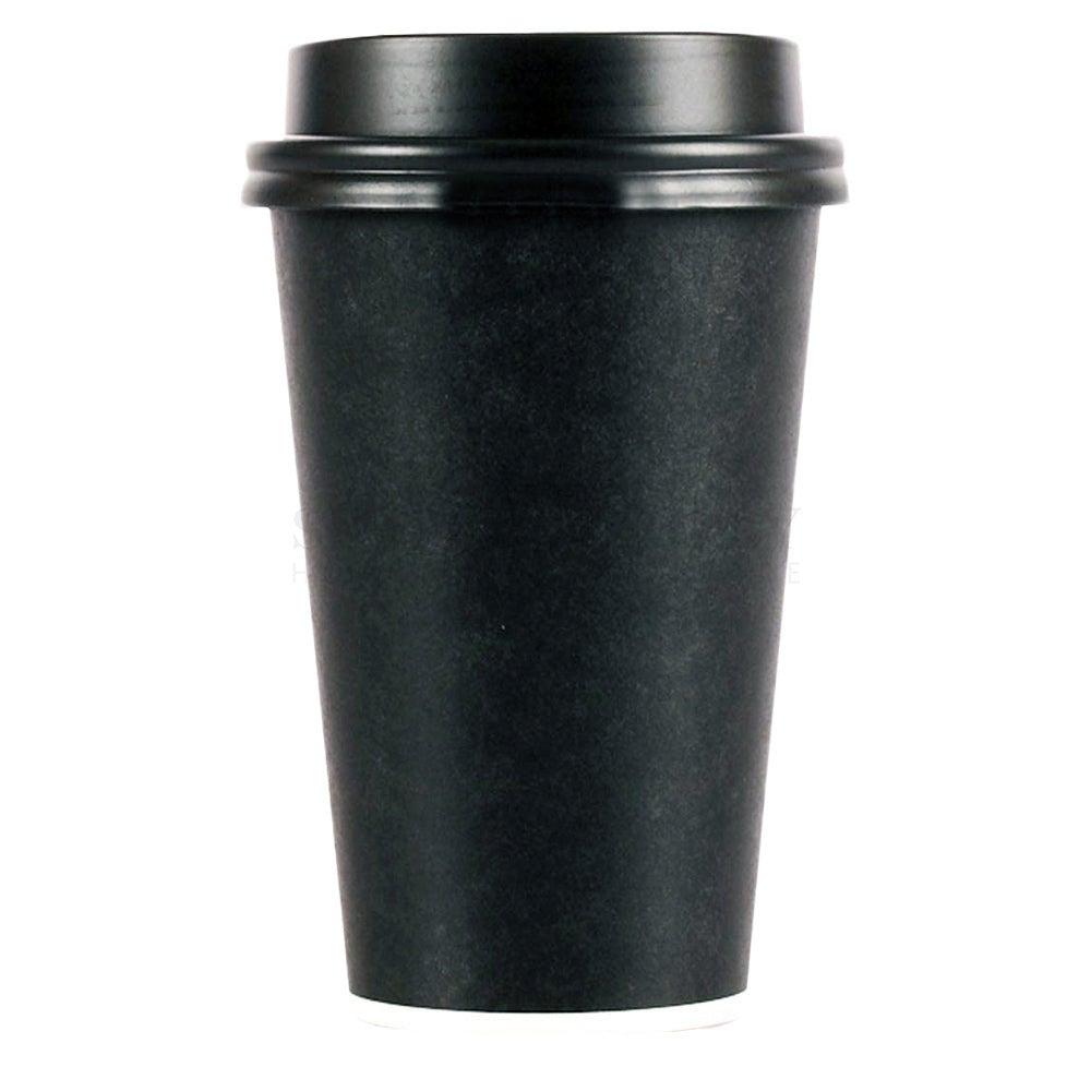 Pardy Disposable Coffee Cups 8oz 12oz 16oz Takeaway Paper Single Wall Black Bulk