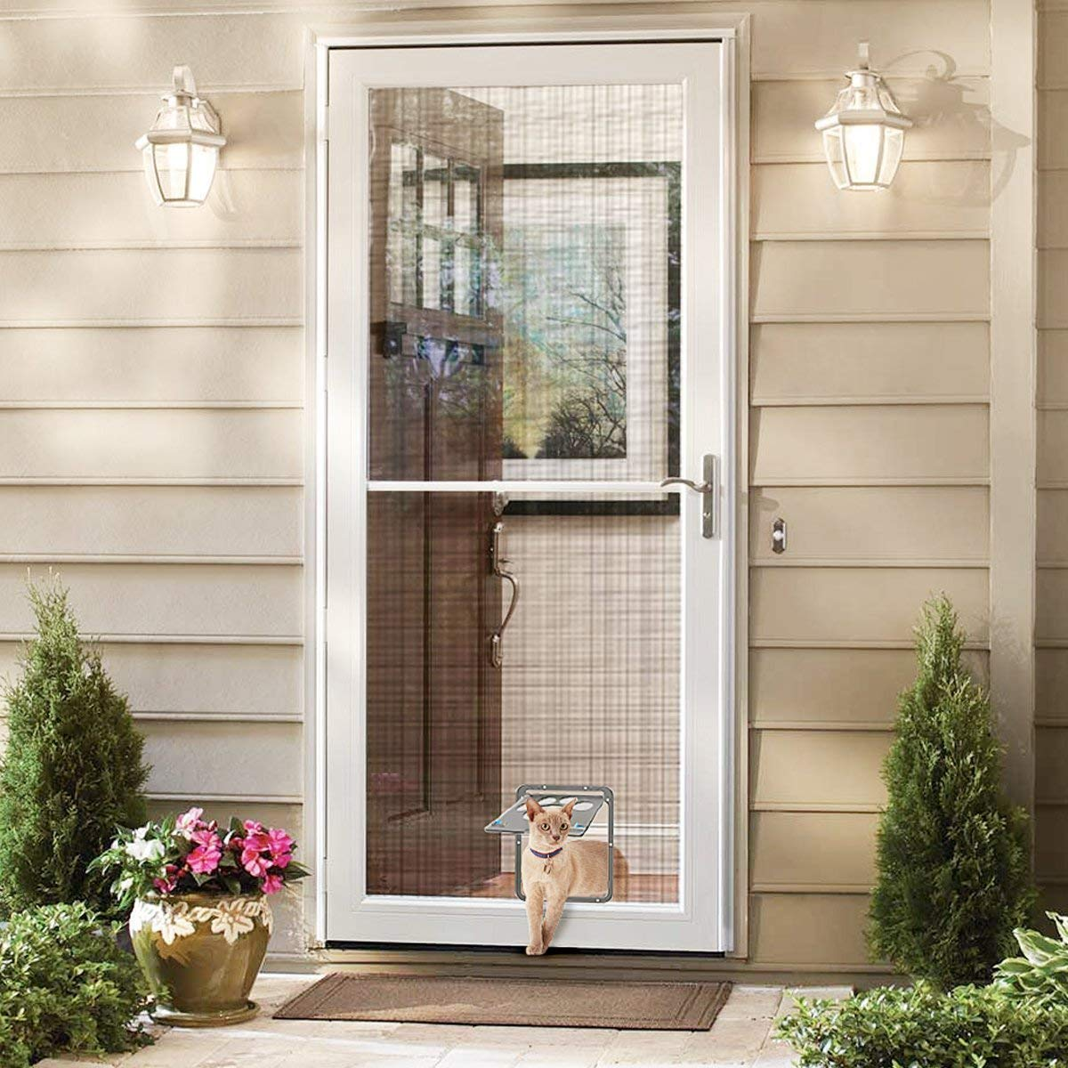 Pipers Pet Screen Door Dog Cat Flap Security Large Window ...