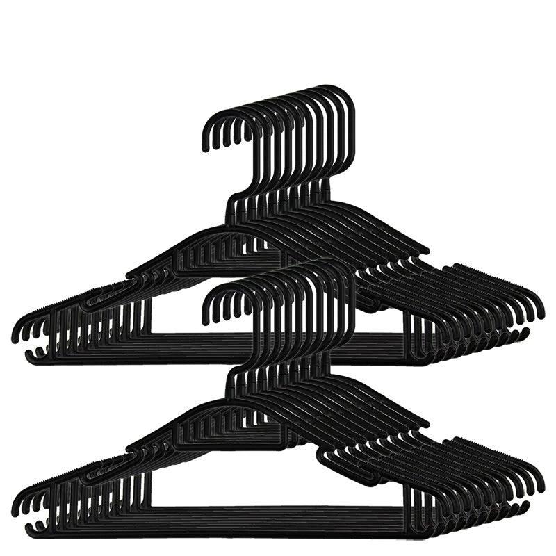 Plastic Coat Hangers Clothes Bulk Black Clothing Coathangers Shirt Suit Swivel