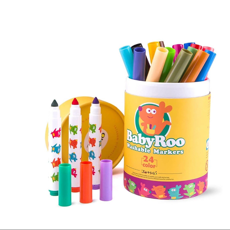 Truboo Washable Markers Watercolour Pens 12/24 Pcs Set Children Kids Drawing