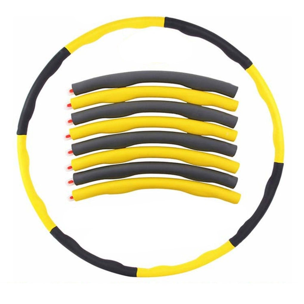 100CM Minch Weighted Hula Hoop Perfect for Dancing Exercise Hot Workout Fitness Yellow&Grey