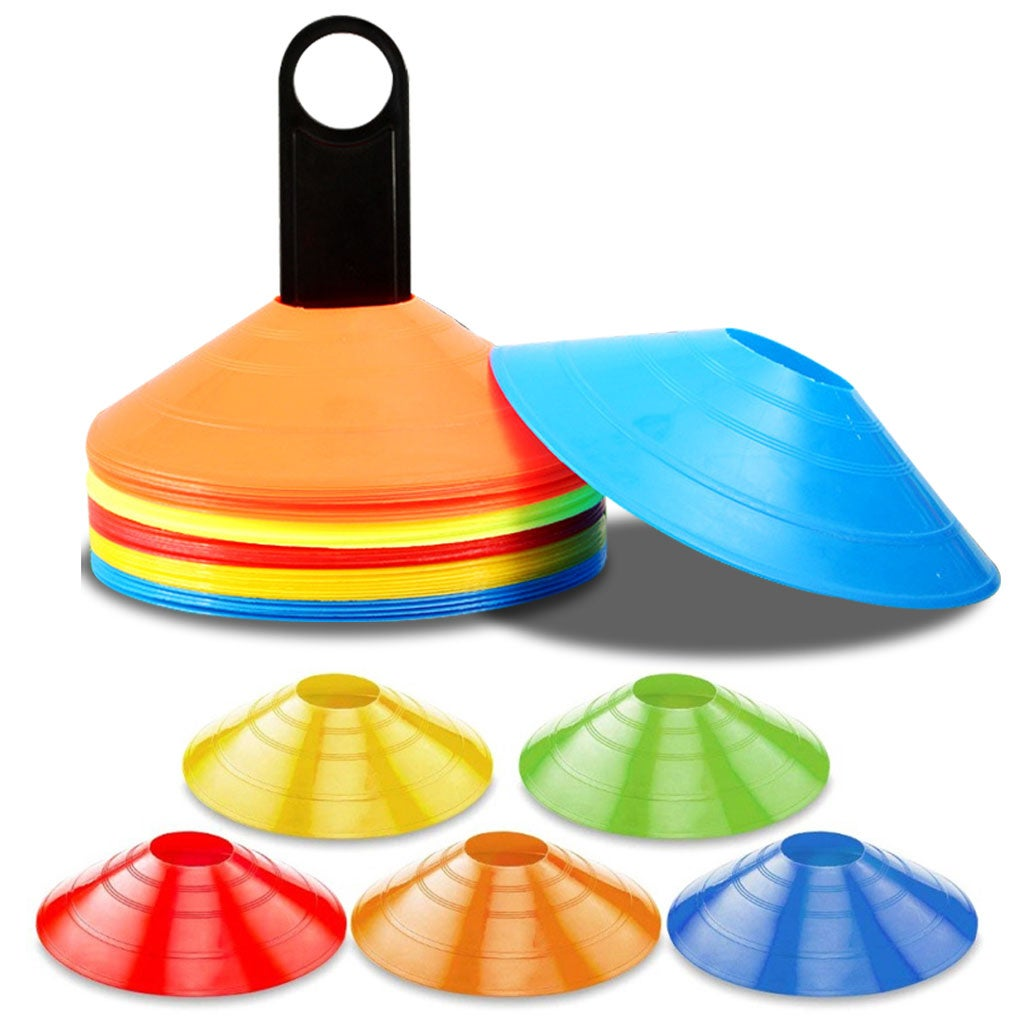 120 PACK SPORTS TRAINING DISCS MARKERS CONES SOCCER AFL EXERCISE PERSONAL FITNESS