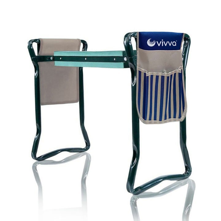 2-in-1 Garden Kneeler Seat Tool Pouch Foldable Bench Stools Gardening Gardeners,2 Blue Pouch