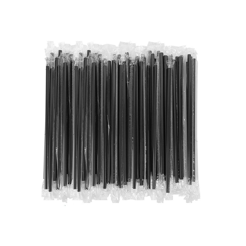 Black Drinking Straw Party Cocktail Plastic Disposable Straws Individual package,210mm,1000pcs