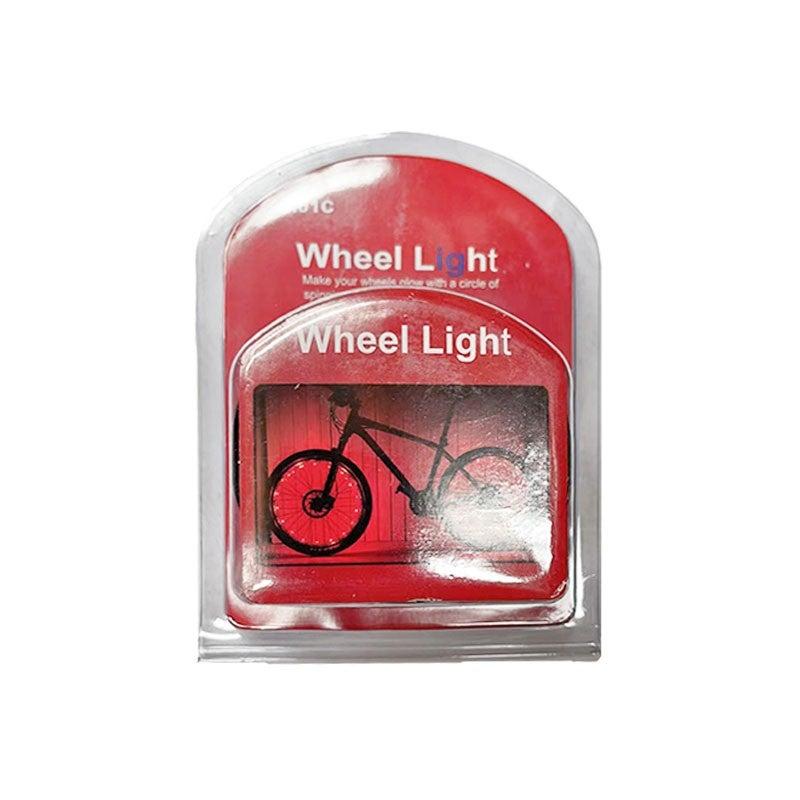 Flashing Neon LED Wheel Cap Tyre Tire Light Bike Bicycle Bright Lamp, Red