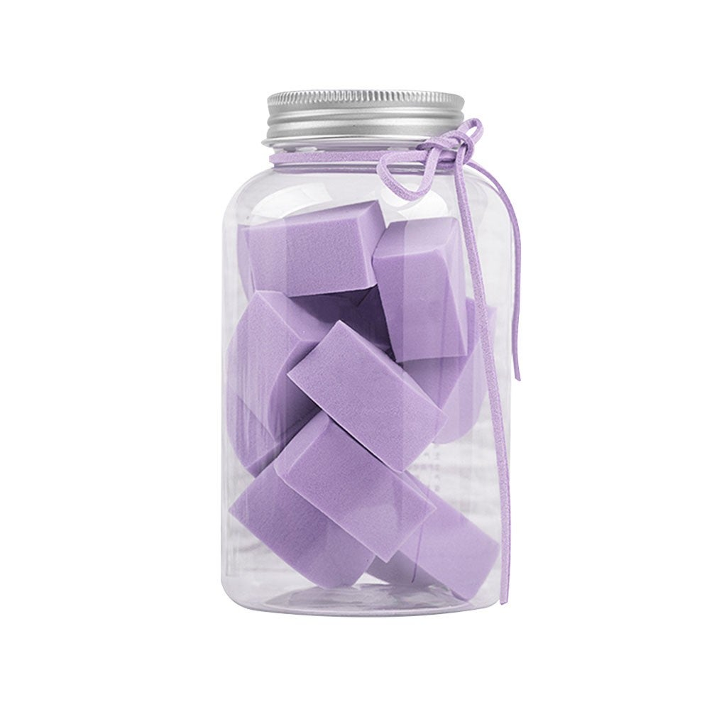 KIISS 12Pcs Makeup Sponge Puff Flawless Cosmetic Powder Foundation Wedge Blender Purple