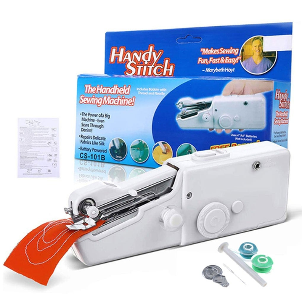Portable Cordless Handheld Sewing Machine Stitch Home Mini Clothes