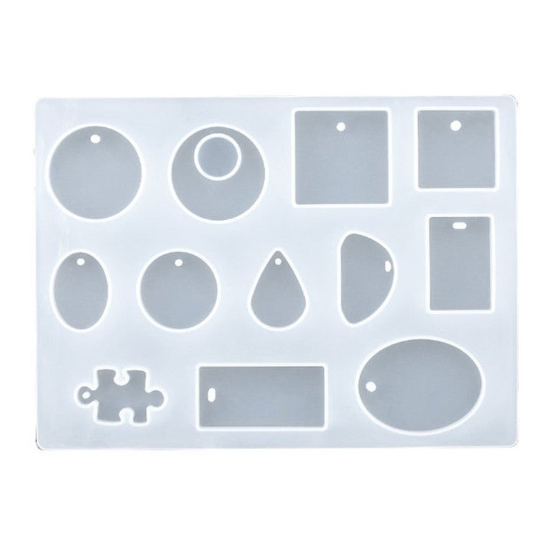 Silicone Earring Pendant Mold Necklace Ring Jewelry Resin Mould Casting Craft