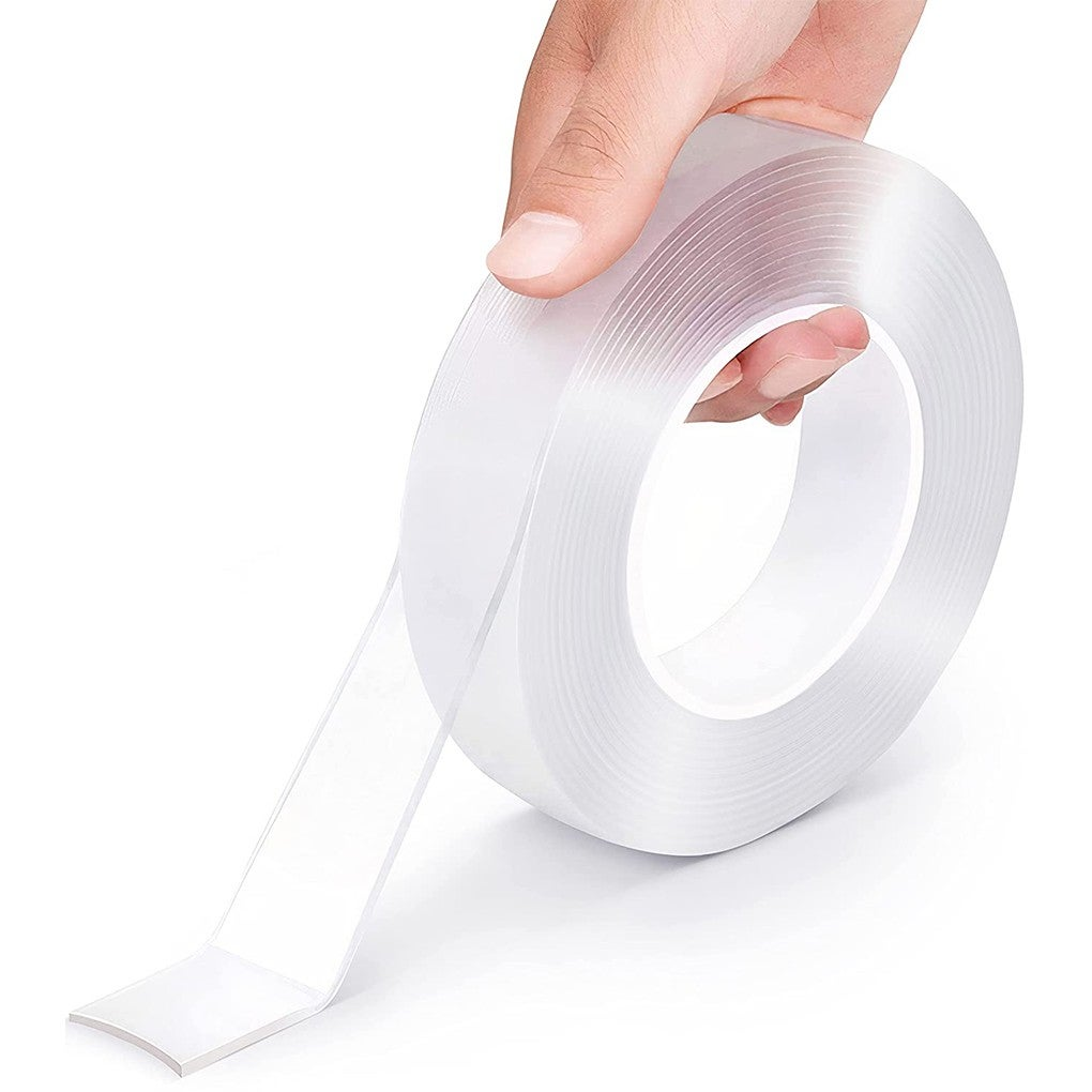 Width 50mm,length 5M,Double-Sided Nano Magic Tape Traceless Clear Adhesive Invisible Gel Anti-Slip
