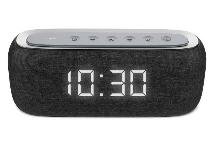 Havit M29 Wireless Bluetooth Speaker Dual Alarm Radio Clock LED Black