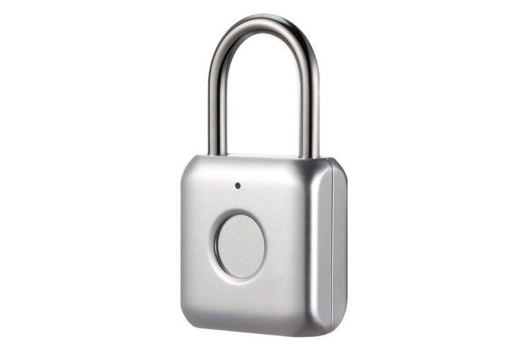 Kaadas M100 Fingerprint Padlock Upto 20 Users USB Charge Silver
