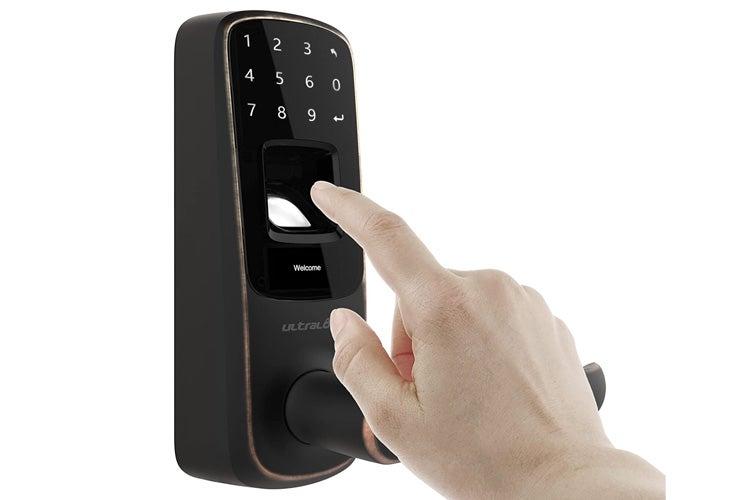 Ultraloq UL3 BT Bluetooth Fingerprint Touch Smart Lever Lock Bronze