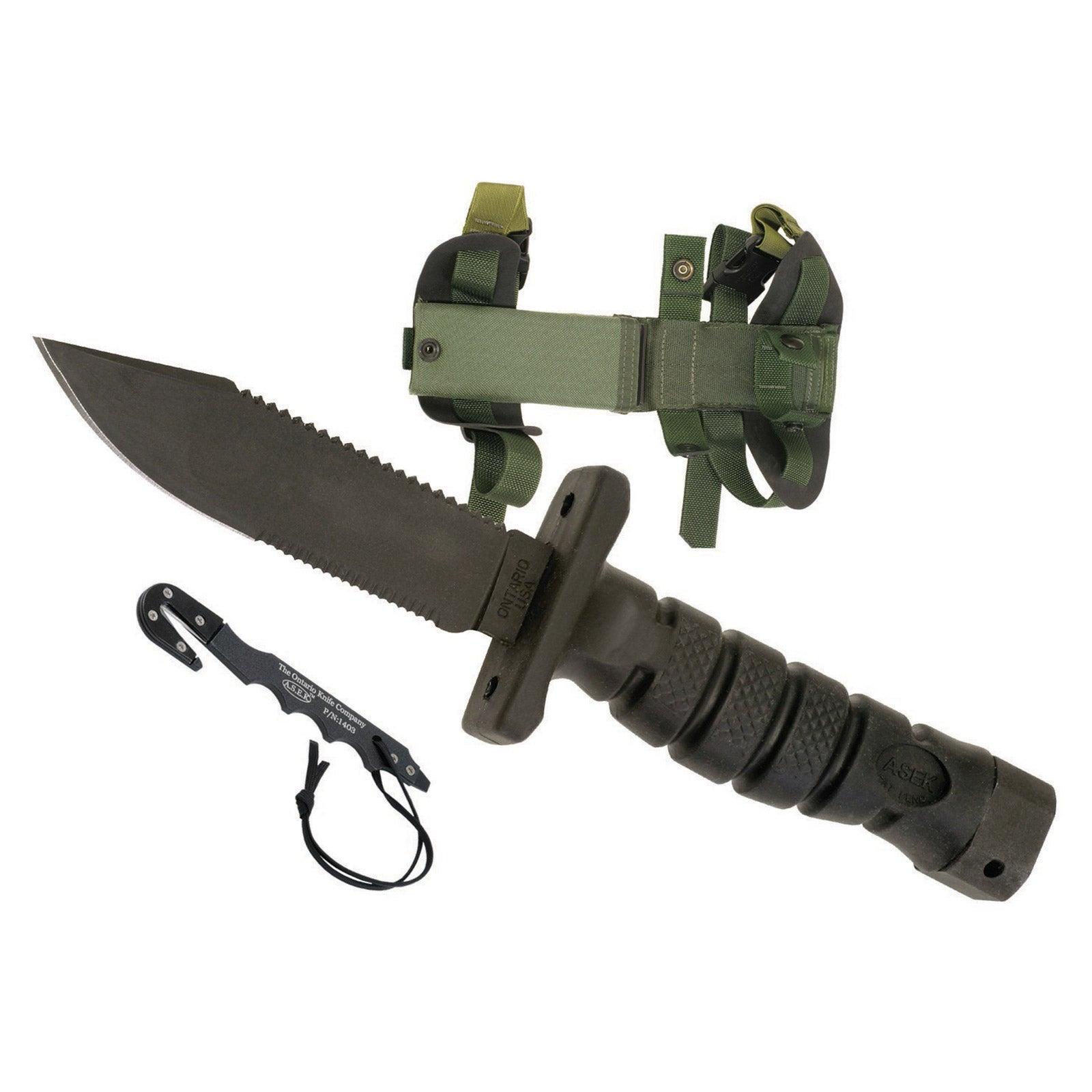 Ontario Knife Co. 1400 ASEK Survival Knife System