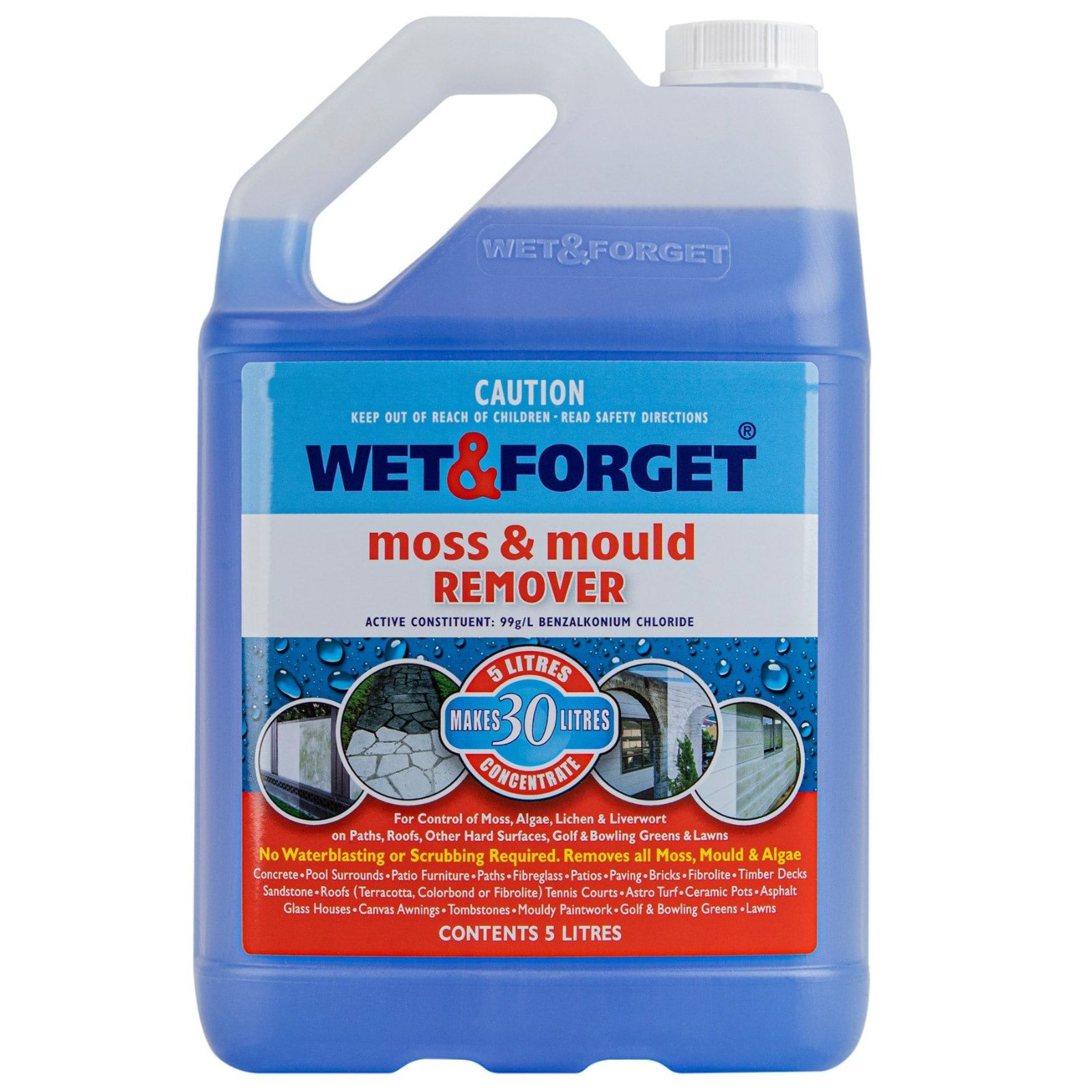Wet & Forget 5L Moss and Mould Remover