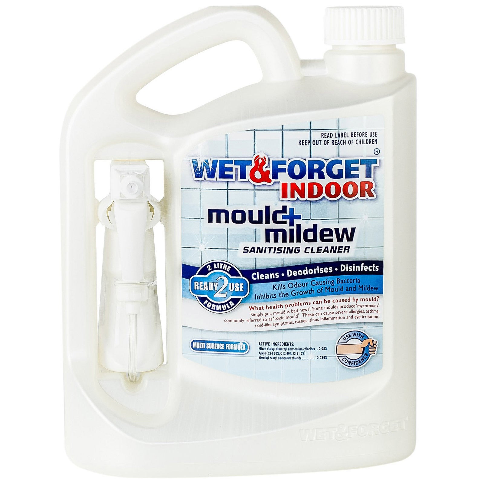 Wet & Forget 2L Indoor Mould and Mildew Sanitising Cleaner