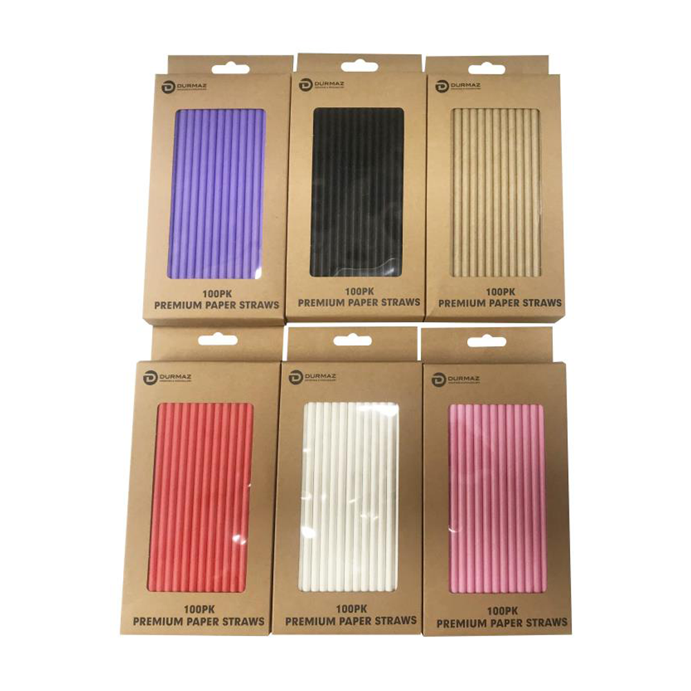 600 x Drinking Paper Straw Party Event Birthday Eco Biodegradable Disposable