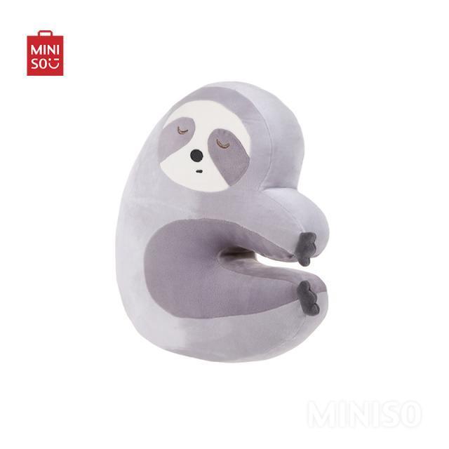MINISO Grey Cute Cuddling Sloth Plush Toy Cushion