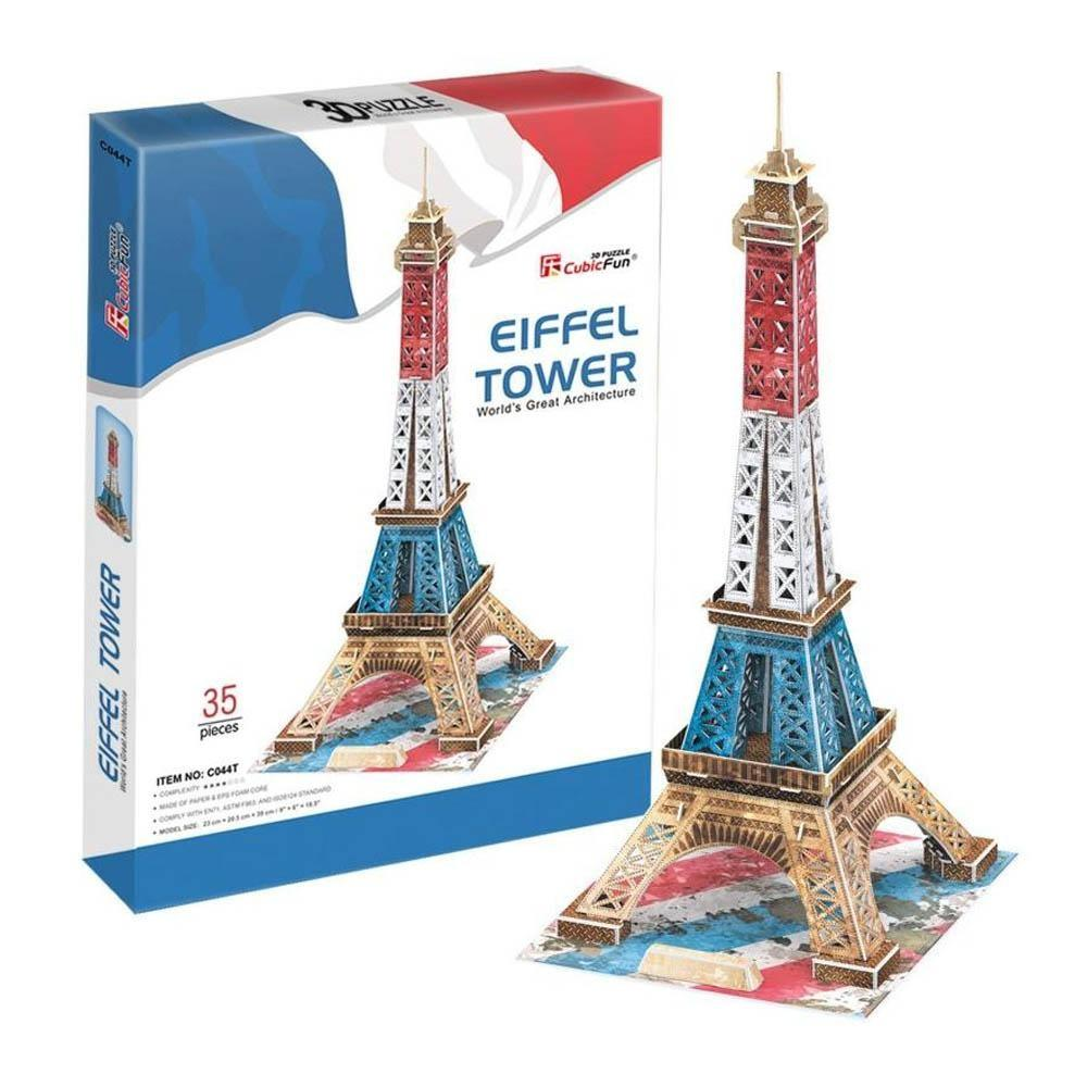 3D Puzzle Fun Kids Toys Eiffel Tower (Special Edition) - 35pc