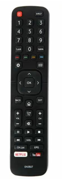 OEM TV Remote Control EN2B27 HISENSE EN-2B27 40K321UW 50K321UWT RC3394402/01