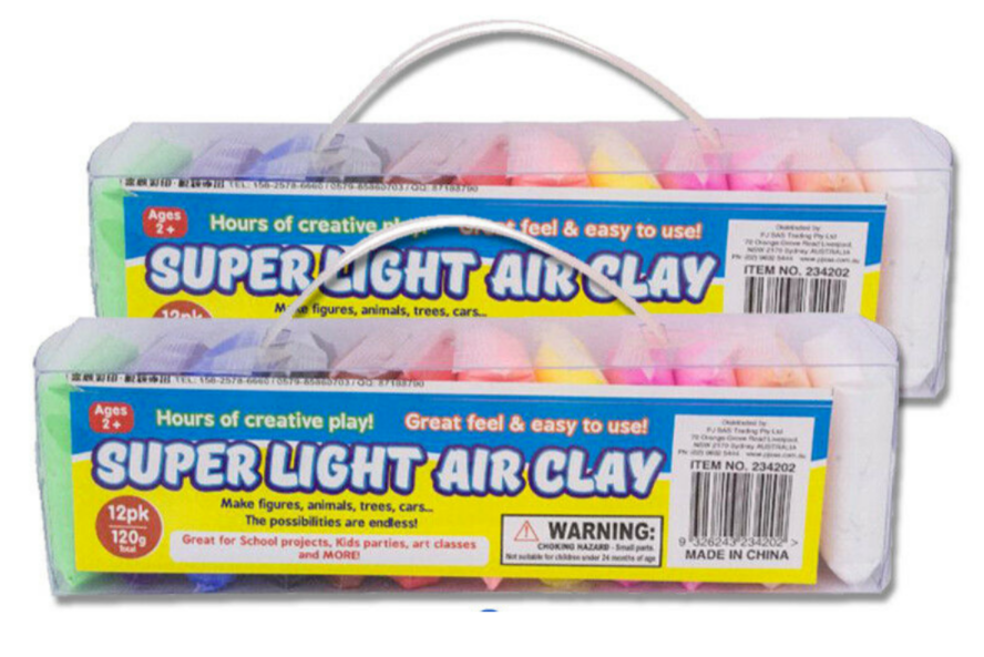 Ozoffer 2x Air Dry Clay Refill Soft Clay Super Light Modeling Air Clay Craft Tools