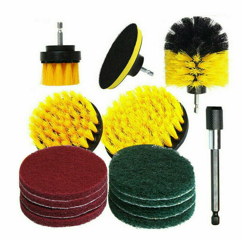 Ozoffer 30PC Drill Brush Tub Clean Electric Grout Power Scrubber Cleaning Combo Tool