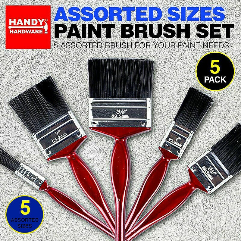 Ozoffer 5x Paint Pro Brush Set Multifunctional Paint Brushes kit Wall Assorted Size