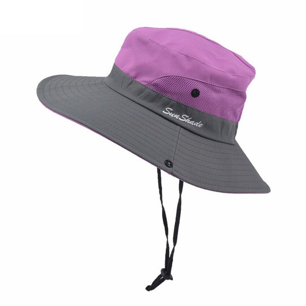 Ozoffer Beach Sun Protection Travel Cap Folding Wide Brim Floppy Summer Ponytail Hat